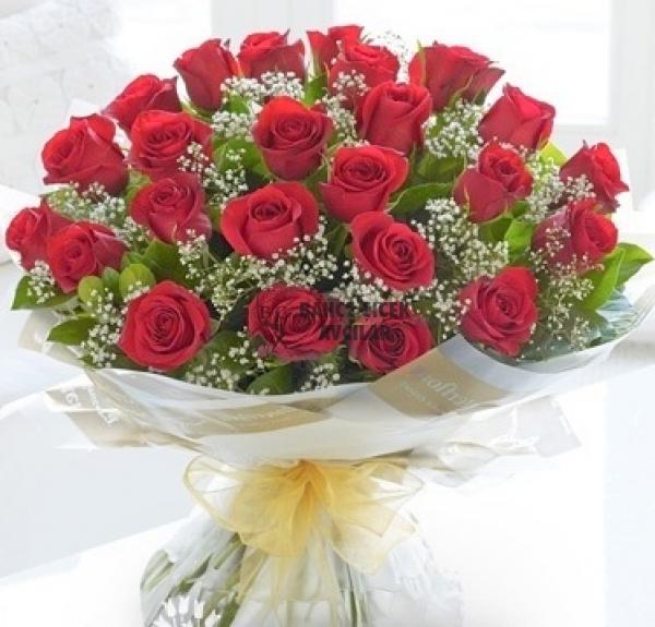 Aşkima 21 Adet Seçilmiş Güzel Güllerden Hazırlanan özel Buket